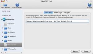 iWeb SEO Tool - Optimize Your iWeb Websites