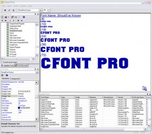 Manage and Preview System and Printer Fonts With Cfont Pro