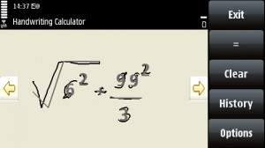 nokia-handwriting-calculator-freeware-for-nokia-5800-xpressmusic-mobile