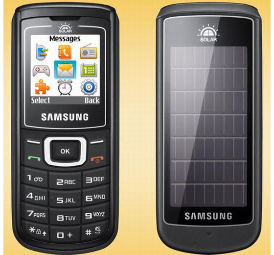 Samsung E1107 Crest Solar Cell Phone