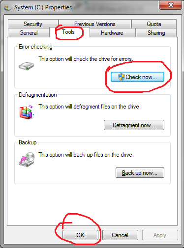 how to stop chkdsk at startup windows 7