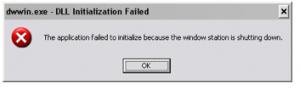 Error Message dr Watson