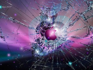 Apple Broken Screen Background Wallpaper Picture
