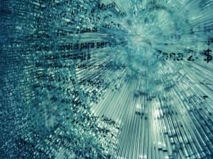 Broken Glass Cracking Desktop Picture