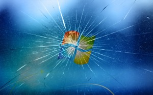 Broken Windows 7 Screen Wallpapers Photo