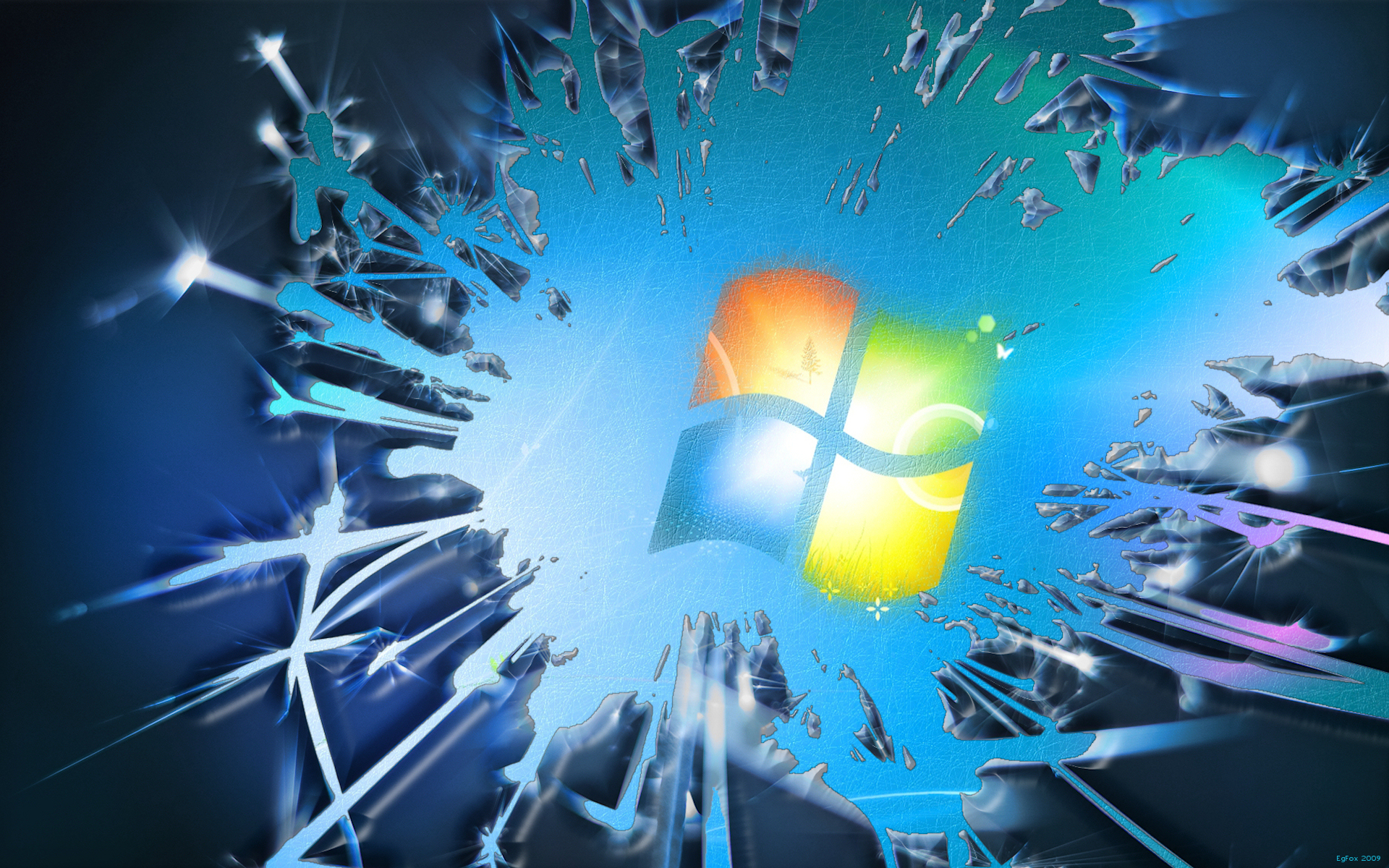 broken windows 7 wallpaper picture
