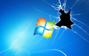 Broken windows Glass Desktop Picture