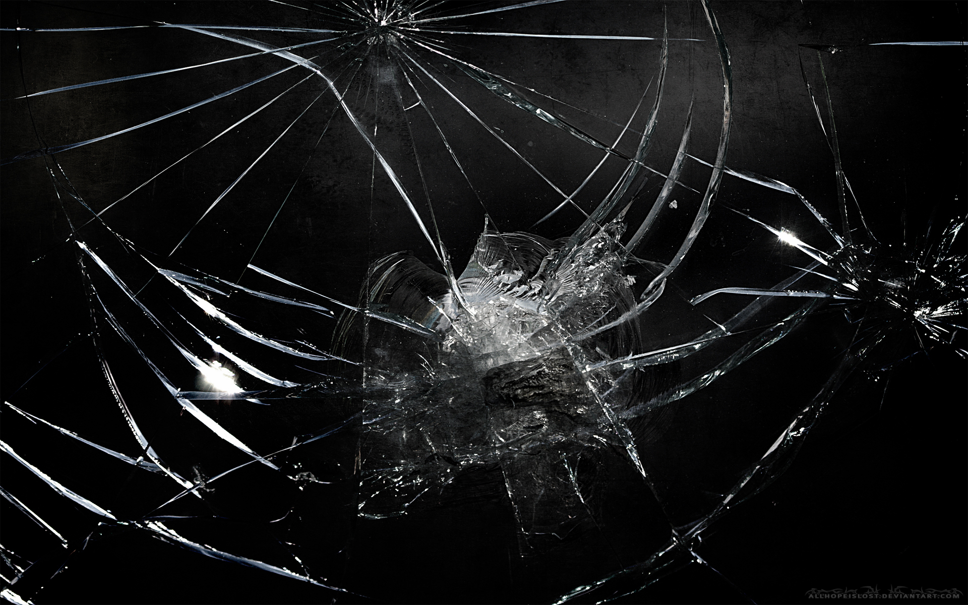 Cracked Screen Image Broken Glass Wallpaper Picture