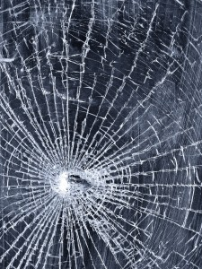 Cracked Window Wallpaper Photo