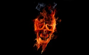 Fire Skull Picture