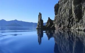 Mountains and Rocky Ocean Wallpaper Photos