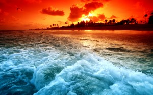 Ocean Sunset Wallpaper Image