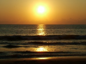 Sun Over the Ocean Wallpaper Picture