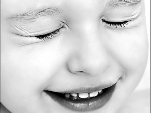 Black and White Cute Baby Wallpaper Picture