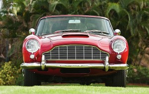 Image of Red Aston Martin DB5 Front