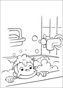 Coloring Pages Curious George Picture