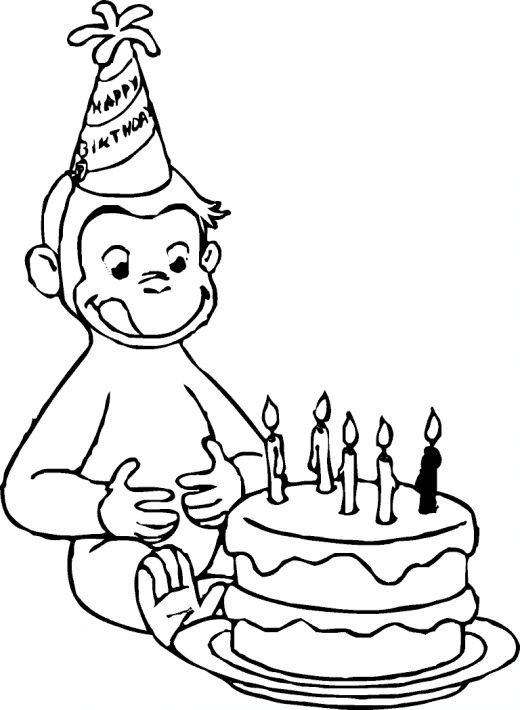 This is an image of Juicy Curious George Printable Coloring Pages