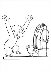Photos of Curious George Coloring Pages