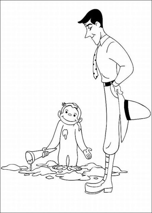 Free Curious George Coloring Pages For Kids - Technosamrat