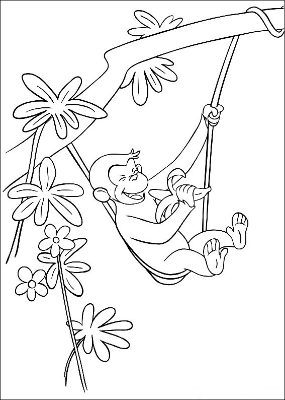 coloring pages of curious george - photo#14