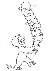 Curious George Ice Cream Coloring Pages Photo