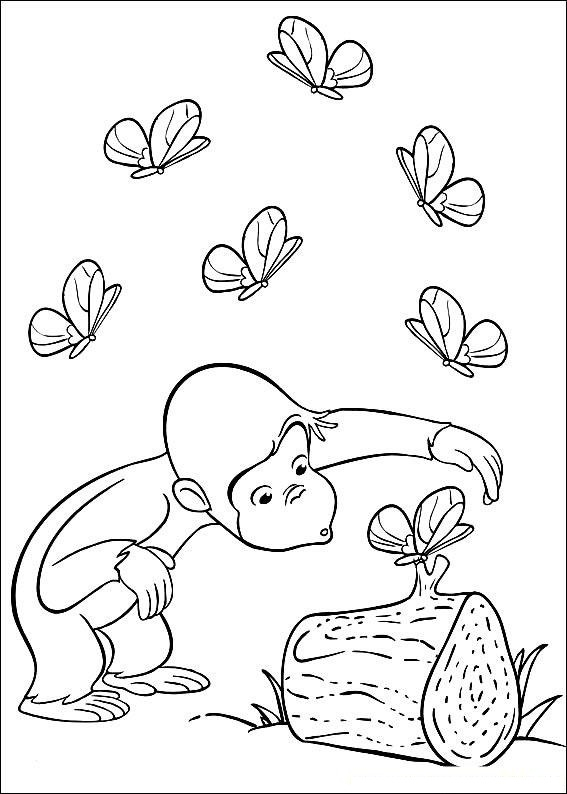 free printable coloring pages of curious george | Free Curious George Coloring Pages For Kids – Technosamrat