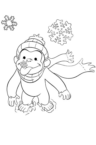 curious george fire coloring pages - photo#13