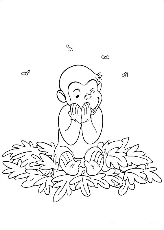 monkey george coloring pages - photo#31