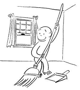 Curious George Sweep Coloring Pages Image
