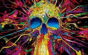 Colorful Skull Desktop Wallpapaer Image