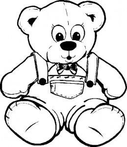 Teddy Bear Color Page