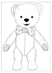 Photo of Teddy Bear Coloring Page