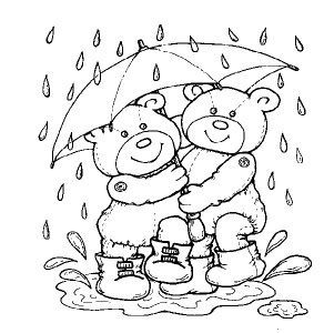 Teddy Standing on the Rain