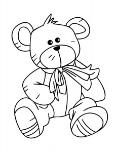 Picture of Teddy Bear Coloring Page