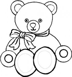 Image of Teddy Bear Coloring Pages