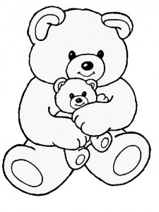 Mother and Baby Teddy