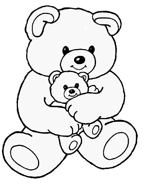 Free coloring pages of teddy bear hat for Free bear coloring pages