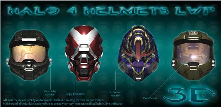 Halo 4 Helmets LWP Image